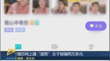 "(DV现场)婚恋网上遇""渣男"" 女子被骗两万多元"