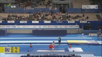 中国男队获得蹦床网上团体亚军