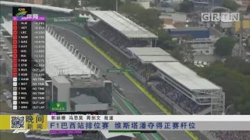 F1巴西站排位赛 维斯塔潘夺得正赛杆位
