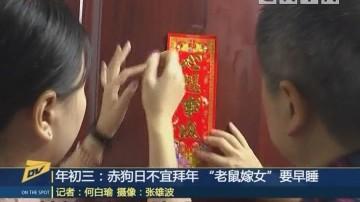"""(DV现场)年初三:赤狗日不宜拜年 """"老鼠嫁女""""要早睡"""