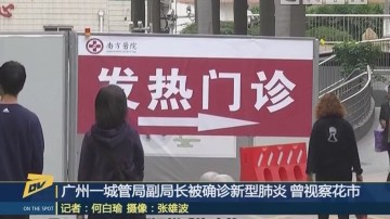 (DV现场)广州一城管局副局长被确诊新型肺炎 曾视察花市