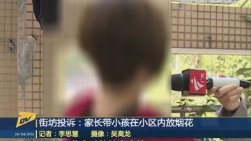 (DV现场)街坊投诉:家长带小孩在小区内放烟花