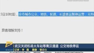 (DV現場)武漢關閉機場火車站等離漢通道 公交地鐵停運