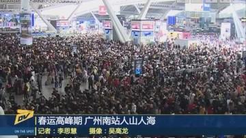 (DV现场)春运高峰期 广州南站人山人海