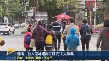 (DV现场)佛山:行人过马路闯红灯 将上大屏幕