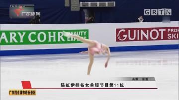 陳虹伊排名女單短節目第11位