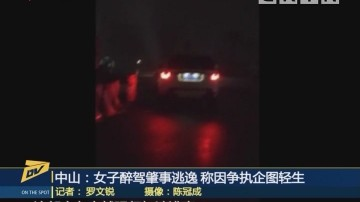 (DV现场)中山:女子醉驾肇事逃逸 称因争执企图轻生