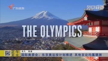 国际奥委会:东京奥运按计划推进 其他言论均属猜测