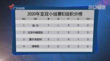 2020年亚冠小组赛E组积分榜