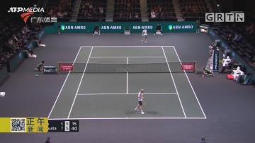 ATP鹿特丹赛 巴斯塔险胜马纳里诺 成功晋级第二轮