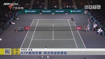 ATP鹿特丹赛 阿古特逆转晋级