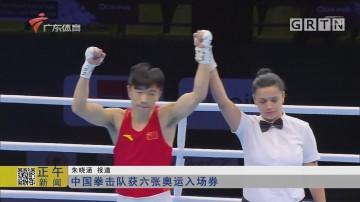 中国拳击队获六张奥运入场券