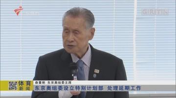 东京奥组委设立特别计划部 处理延期工作