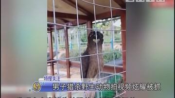 男子猎杀野生动物拍视频炫耀被抓