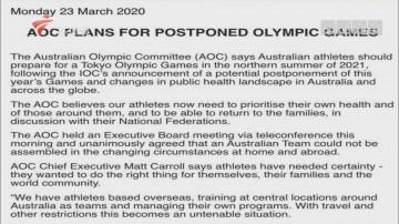 澳大利亚奥委会:代表团无法集结 会为2021奥运准备