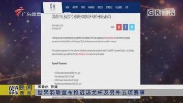 世界羽联宣布推迟汤尤杯及另外五项赛事