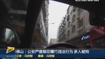 (DV现场)佛山:公安严查烟花爆竹违法行为 多人被拘