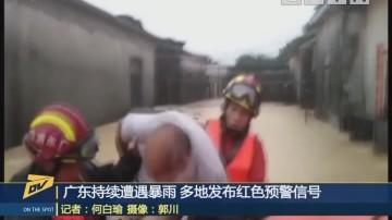 广东持续遭遇暴雨 多地发布红色预警信号