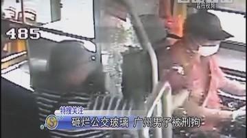砸烂公交玻璃 广州男子被刑拘