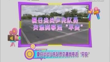 """[2020-08-11]南方小记者:夏日炎炎少先队员交通岗亭送""""平安"""""""