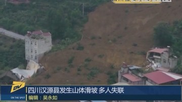 四川汉源县发生山体滑坡 多人失联