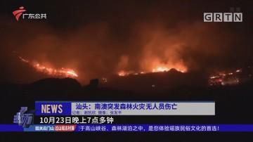 汕头:南澳突发森林火灾无人员伤亡