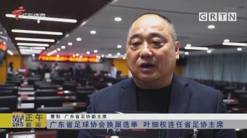 广东省足球协会换届选举 叶细权连任省足协主席
