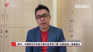 陈宁:中国男足可争取卡塔尔世界杯门票 达到亚洲一流难度大