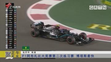 F1阿布扎比大奖赛第二次练习赛 博塔斯最快