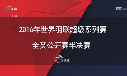 2016全英公开赛 混双半决赛 张楠/赵云蕾VS乔丹/苏桑托