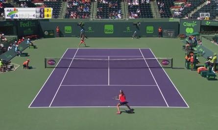 WTA迈阿密公开赛 孔塔逆转击败哈勒普