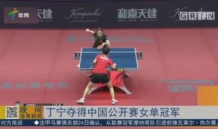 丁宁夺得中国公开赛女单冠军