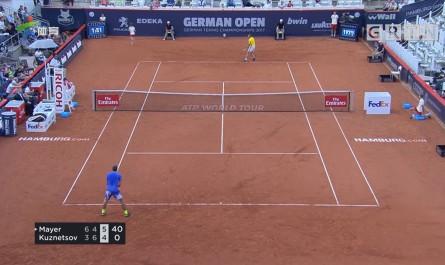 ATP汉堡赛 施瓦泽曼逆转对手 第三轮对话F·梅耶尔