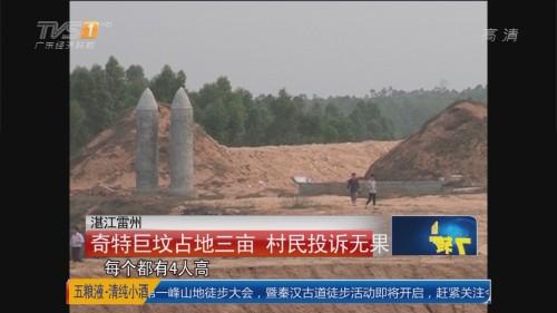 湛江雷州:奇特巨坟占地三亩 村民投诉无果