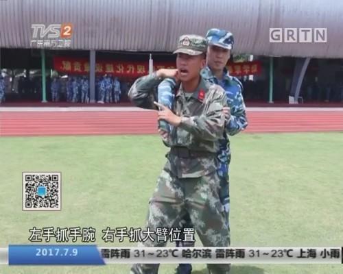 """军训反劫持战斗:上海高校军训首次引入""""反劫持战斗"""""""