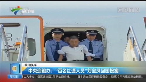 """中央追逃办:""""百名红通人员""""刘宝凤回国投案"""