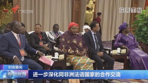 进一步深化同非洲法语国家的合作交流