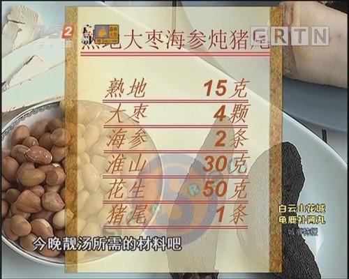 熟地大枣海参炖猪尾