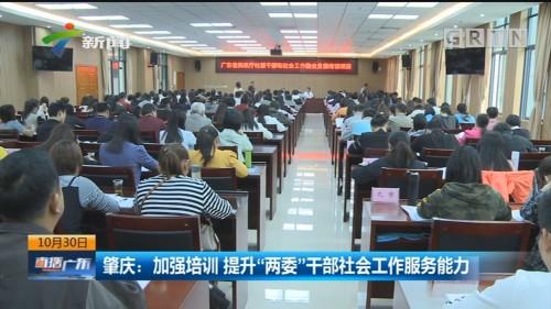 """肇庆:加强培训 提升""""两委""""干部社会工作服务能力"""