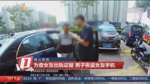 佛山南海:为查女友出轨证据 男子夜盗女友手机