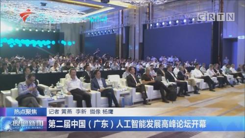 第二届中国(广东)人工智能发展高峰论坛开幕