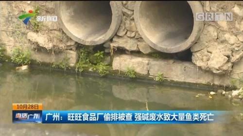 广州:旺旺食品厂偷排被查 强碱废水致大量鱼类死亡