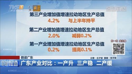 数读广东 广东产业对比:一产升 三产稳 二产缓