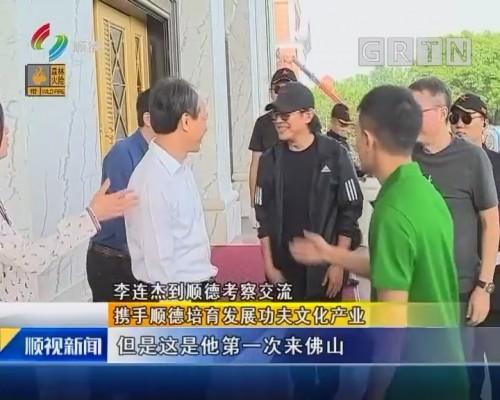 李连杰到顺德考察交流 携手顺德培育发展功夫文化产业