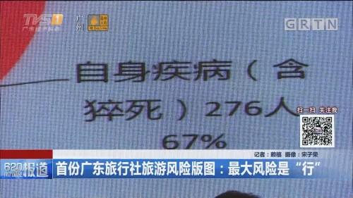 """首份广东旅行社旅游风险版图:最大风险是""""行"""""""