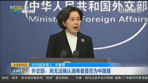 外交部:尚无法确认遇难者是否为中国籍