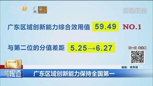 广东区域创新能力保持全国第一
