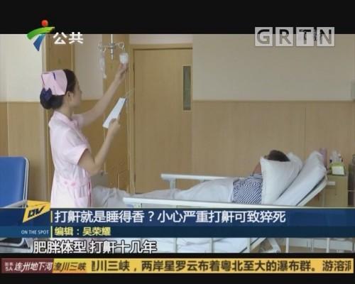 (DV现场)打鼾就是睡得香?小心严重打鼾可致猝死