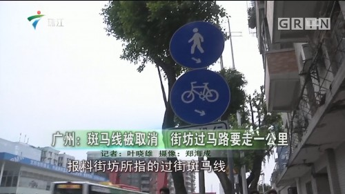 广州:斑马线被取消 街坊过马路要走一公里