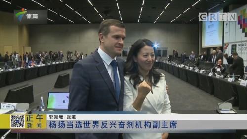 杨扬当选世界反兴奋剂机构副主席